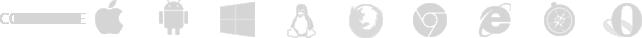 Image list icônes compatibilité plateformes